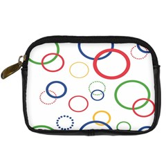 Circle Round Green Blue Red Pink Yellow Digital Camera Cases