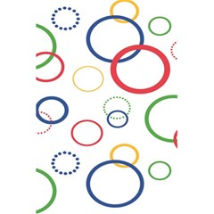 Circle Round Green Blue Red Pink Yellow 5.5  x 8.5  Notebooks
