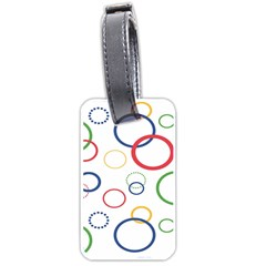 Circle Round Green Blue Red Pink Yellow Luggage Tags (two Sides)