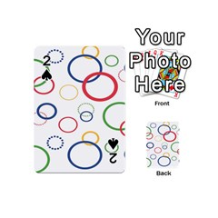 Circle Round Green Blue Red Pink Yellow Playing Cards 54 (Mini)