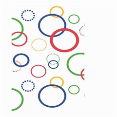 Circle Round Green Blue Red Pink Yellow Small Garden Flag (Two Sides)