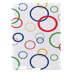 Circle Round Green Blue Red Pink Yellow Apple iPad 3/4 Hardshell Case (Compatible with Smart Cover)