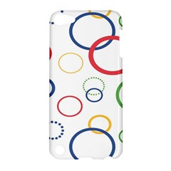 Circle Round Green Blue Red Pink Yellow Apple iPod Touch 5 Hardshell Case