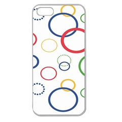 Circle Round Green Blue Red Pink Yellow Apple Seamless iPhone 5 Case (Clear)