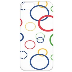 Circle Round Green Blue Red Pink Yellow Apple iPhone 5 Classic Hardshell Case