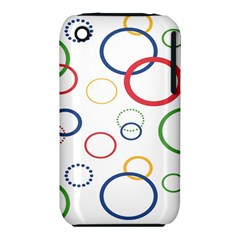 Circle Round Green Blue Red Pink Yellow iPhone 3S/3GS