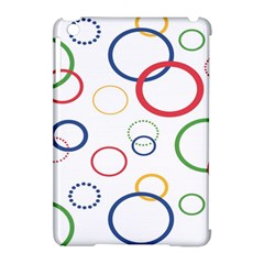 Circle Round Green Blue Red Pink Yellow Apple iPad Mini Hardshell Case (Compatible with Smart Cover)