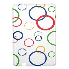 Circle Round Green Blue Red Pink Yellow Kindle Fire HD 8.9