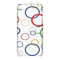 Circle Round Green Blue Red Pink Yellow Apple iPod Touch 5 Hardshell Case with Stand