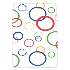 Circle Round Green Blue Red Pink Yellow Flap Covers (L)