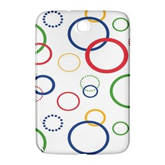 Circle Round Green Blue Red Pink Yellow Samsung Galaxy Note 8.0 N5100 Hardshell Case