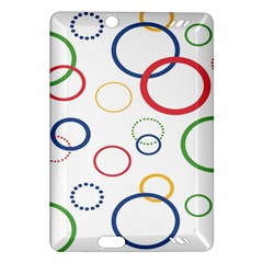 Circle Round Green Blue Red Pink Yellow Amazon Kindle Fire HD (2013) Hardshell Case