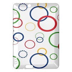 Circle Round Green Blue Red Pink Yellow Kindle Fire HDX Hardshell Case