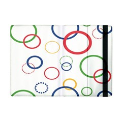 Circle Round Green Blue Red Pink Yellow iPad Mini 2 Flip Cases