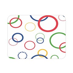 Circle Round Green Blue Red Pink Yellow Double Sided Flano Blanket (Mini)