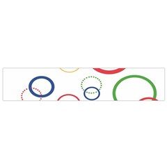 Circle Round Green Blue Red Pink Yellow Flano Scarf (Small)