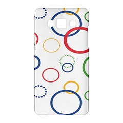 Circle Round Green Blue Red Pink Yellow Samsung Galaxy A5 Hardshell Case