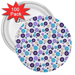 Buttons Chlotes 3  Buttons (100 pack)