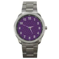 Pattern Sport Metal Watch