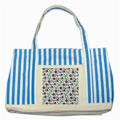 Buttons Chlotes Striped Blue Tote Bag