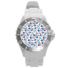 Buttons Chlotes Round Plastic Sport Watch (L)