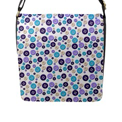 Buttons Chlotes Flap Messenger Bag (L)