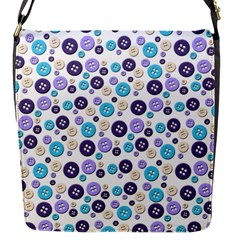 Buttons Chlotes Flap Messenger Bag (S)