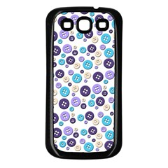 Buttons Chlotes Samsung Galaxy S3 Back Case (Black)