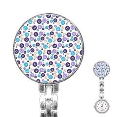 Buttons Chlotes Stainless Steel Nurses Watch