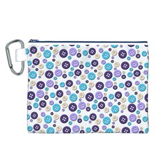 Buttons Chlotes Canvas Cosmetic Bag (L)