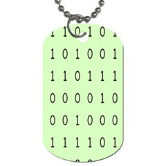 Code Number One Zero Dog Tag (One Side)
