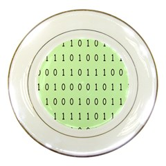 Code Number One Zero Porcelain Plates