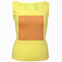 Dots Women s Yellow Tank Top