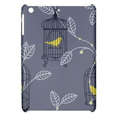 Cagr Bird Leaf Grey Yellow Apple iPad Mini Hardshell Case