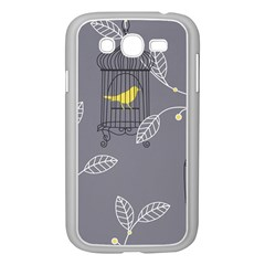 Cagr Bird Leaf Grey Yellow Samsung Galaxy Grand DUOS I9082 Case (White)