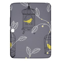Cagr Bird Leaf Grey Yellow Samsung Galaxy Tab 3 (10.1 ) P5200 Hardshell Case