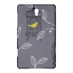 Cagr Bird Leaf Grey Yellow Samsung Galaxy Tab S (8.4 ) Hardshell Case