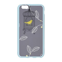 Cagr Bird Leaf Grey Yellow Apple Seamless iPhone 6/6S Case (Color)