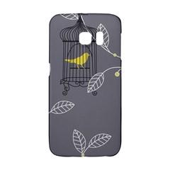 Cagr Bird Leaf Grey Yellow Galaxy S6 Edge