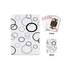Circle Round Black Grey Playing Cards (Mini)