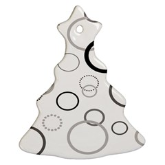Circle Round Black Grey Ornament (Christmas Tree)