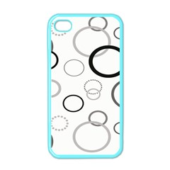 Circle Round Black Grey Apple iPhone 4 Case (Color)