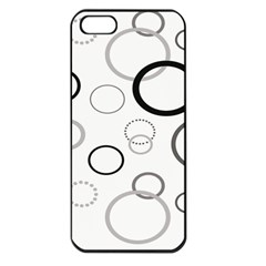 Circle Round Black Grey Apple iPhone 5 Seamless Case (Black)