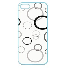 Circle Round Black Grey Apple Seamless iPhone 5 Case (Color)