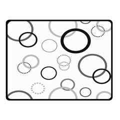 Circle Round Black Grey Double Sided Fleece Blanket (Small)