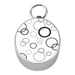 Circle Round Black Grey Mini Silver Compasses