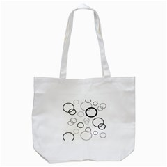 Circle Round Black Grey Tote Bag (White)
