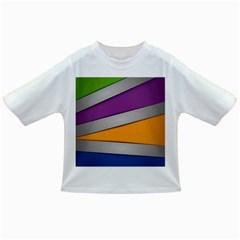 Colorful Geometry Shapes Line Green Grey Pirple Yellow Blue Infant/Toddler T-Shirts