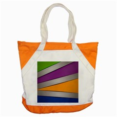Colorful Geometry Shapes Line Green Grey Pirple Yellow Blue Accent Tote Bag