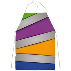Colorful Geometry Shapes Line Green Grey Pirple Yellow Blue Full Print Aprons